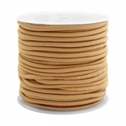 Coloured elastic cord 2.5mm Camel brown