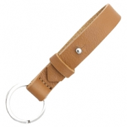 Cuoio keychains leather 15mm for 20mm cabochon Cognac brown