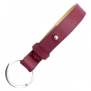 Cuoio keychains leather 15mm for 20mm cabochon Tawny port red