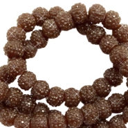 Sparkling beads 8mm Dark Brown