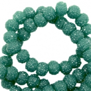 Sparkling beads 6mm Vintage Green
