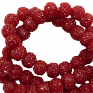 Sparkling beads 6mm Dark Red