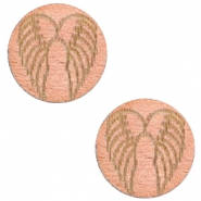 Wooden cabochon Angel Wings 12mm Rosegold
