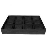 Jewellery display 12-compartments with pillow Black