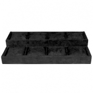 Jewellery display 8-compartments with pillow Black