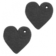 DQ leather charms heart Vintage Black