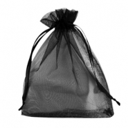 Jewellery Organza Bag 13x18cm Black