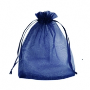 Jewellery Organza Bag 10x13cm Navy Blue