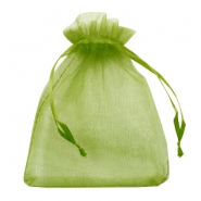 Jewellery Organza Bag 13x18cm Olive Green