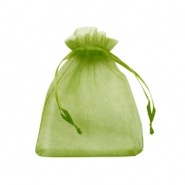Jewellery Organza Bag 9x12cm Olive Green