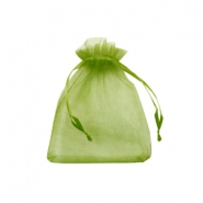 Jewellery Organza Bag 7x9cm Olive Green