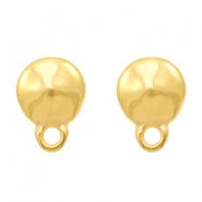 DQ metal findings earpin round with loop Gold (nickel free)
