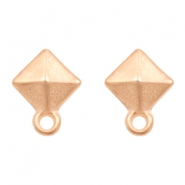 DQ metal findings earpin rhombus with loop Rose Gold (nickel free)