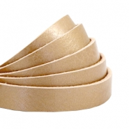 Flat 10mm DQ leather Metallic Champagne