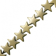 Hematite beads star 10mm Antique Gold