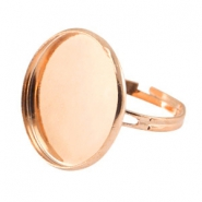 Rings metal for cabochon 20mm Rose Gold