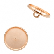 Settings button metal for cabochon 12mm Rose Gold