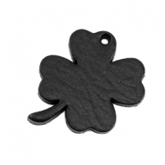 DQ leather charms clover medium Midnight Black