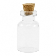 Wish bottle with cork 28x16mm Transparent