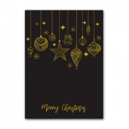 Jewellery cards Christmas baubles Black-Gold