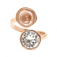DQ metal findings ring with settings for SS39 Rose Gold (Nickel Free)