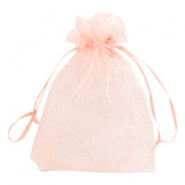 Jewellery organza bags 13x18cm Light peach