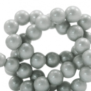8 mm glass beads glitter dust Frosted Grey