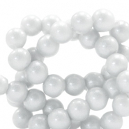 8 mm glass beads glitter dust Ice Grey