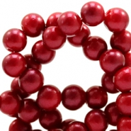 8 mm glass beads glitter dust Ruby Red