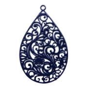 Bohemian charms drop shaped Nightshadow Blue
