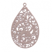 Bohemian charms drop shaped Taupe
