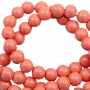 8 mm glass beads opaque Coral Rose Peach
