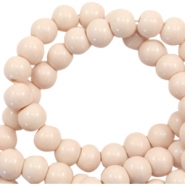 8 mm glass beads opaque Creamy Nude Pink