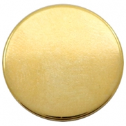 DQ European metal cabochons round 20mm Gold (Nickel free)