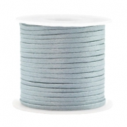 Trendy flat cord silk style 2mm Blue Mist