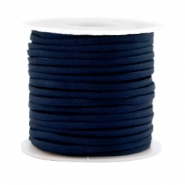 Trendy flat cord silk style 2mm Dark Blue