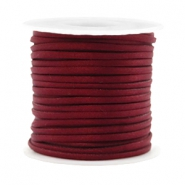 Trendy flat cord silk style 2mm Port Red