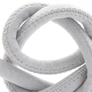 Trendy stitched cord silk style 4x3mm Light Grey