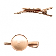 Settings hair clip metal for cabochon 20mm Rose Gold
