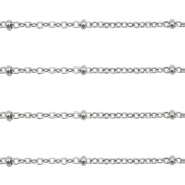 Stainless Steel findings belcher chains 1.4mm Silver