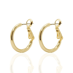 DQ creole earrings 18mm Gold Plated