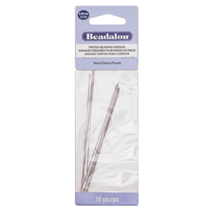 Beadalon Twisted Needle Asian Heavy 10pcs Silver