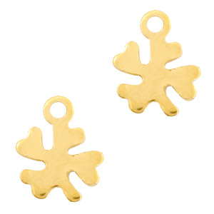 Stainless steel charms clover Gold