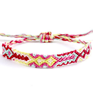 Ready-made Bracelets/Anklets Brazilian style| One size fits all Multicolour Yellow-Pink