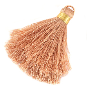 Tassels 6cm Limited edition Toasted Nut Rose-Warmgold