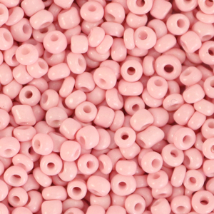 Glass seed beads 8/0 (3mm) Blush Pink