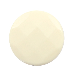 Flat DQ acrylic beads 30mm round faceted Beige