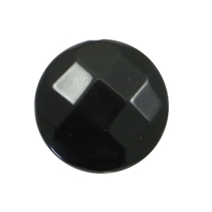 Flat DQ acrylic beads 24mm round faceted Black
