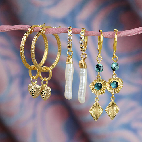 Make the most beautiful trendy earrings with brass charms!