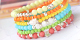 Acrylic beads in summery trend colours